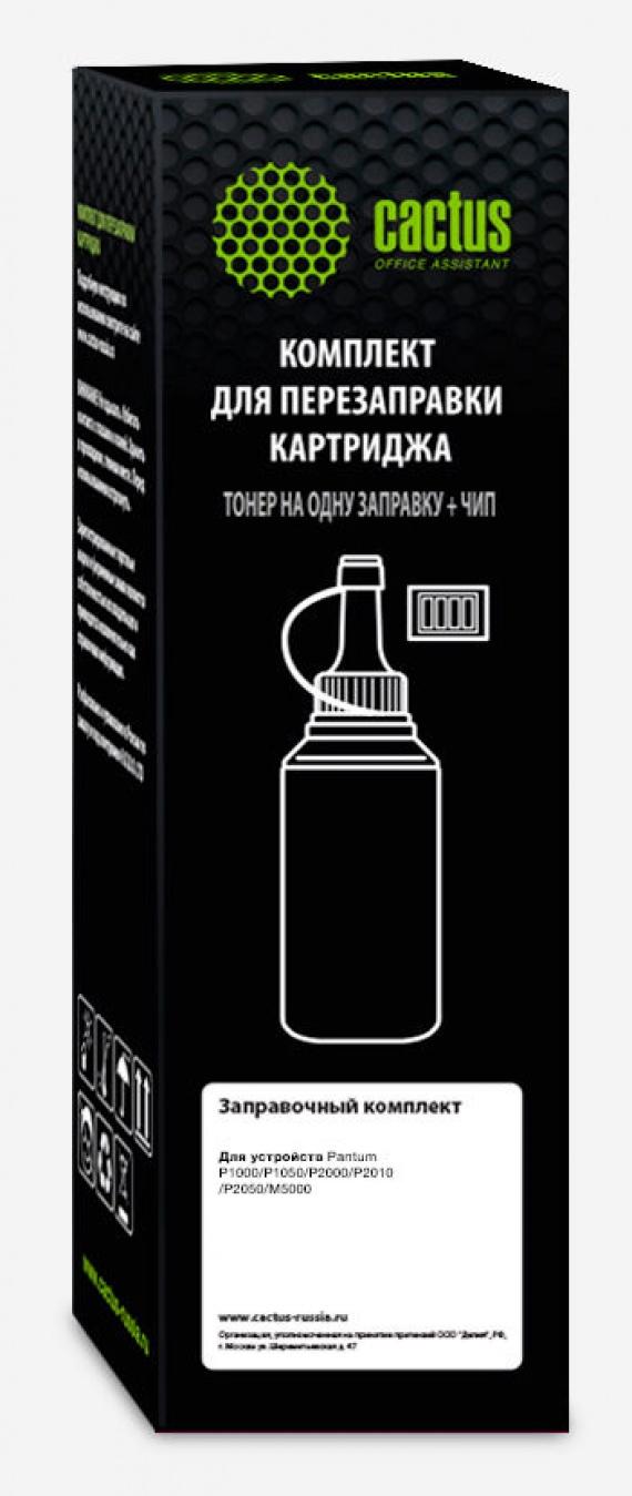 Тонер Pantum P2000/1000/1050/2050/M5000 черный/65грамм  (CS-RK-PX-110) туба+чип, Cactus - купить в Красноярске по выгодным ценам
